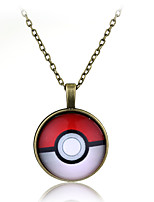 Glass Dome Jewelry Pokeball Necklace Pocket Little Monster Pendant Personalized Picture Necklace