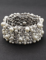 Bracelet Chaîne Alliage Perle imitée / Strass Femme