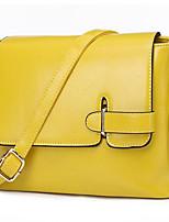 Women-Formal-PU-Shoulder Bag-Yellow