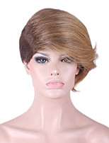 Best-selling Europe And The United States A Wig Golden Brown Gradient Character Hair Wig 6 Inch