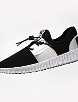 Men's Sneakers Spring / Summer / Fall Comfort Tulle Casual Flat Heel Others Black / Silver Sneaker