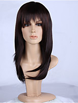 Natural Brown Mixed Color Popular Straight Synthetic Wig For Woman