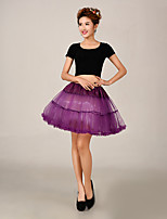 Slips Ball Gown Slip Short-Length 2 Tulle Netting / Polyester Petticoats White / Red / Blue / Purple / Yellow