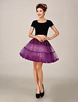 Slips(Tülle / Polyester,Weiß / Rot / Blau / Lila / Gelb) -S:40cm,M:40cm-2-Abendkleid