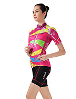 Sports Bike/Cycling Jersey + Shorts / Tops / Bottoms Women's Short Sleeve Breathable / Sweat-wicking Elastane SportS / M / L / XL / XXL /