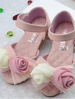 Girls' Shoes Casual PU Summer Comfort / Sandals Pink / White