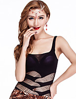 Belly Dance Tops Women's Training Cotton Draped 1 Piece Black Belly Dance Sleeveless Natural Top