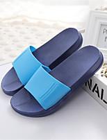 Sapatos Masculinos-Sandálias-Azul / Amarelo-Courino-Ar-Livre / Casual