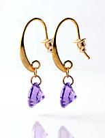 Multicolor Luxury Court Water Droplets Acrylic Earrings