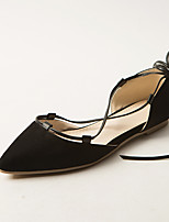 Women's Shoes Flat Heel Comfort / Ankle Strap / Pointed Toe Sandals Dress / Casual Black / Gray