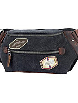 Men-Formal-PVC-Waist Bag-Black