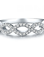 Genuine Brand Twist Style Micro Paved SONA Diamond Wedding Band Ring 0.55CT Semi Mount Solid Silver Women Jewelry