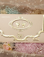 Personalized Tri-Fold Wedding Invitations Invitation Cards-50 Piece/Set
