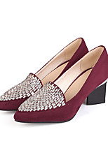 Women's Shoes Chunky Heel Rhinestone Pumps Shoes More Colors Available
