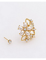 Earring Flower Stud Earrings Jewelry Women Fashion Daily / Casual Alloy 1pc Silver