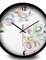 Simple Pastoral Flower Jewelry Home Furnishing Silent Metal Wall Clock