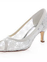 Women's Shoes Stretch Satin Spring / Summer / Fall Heels /Party & Evening / Dress Stiletto Heel Others Ivory
