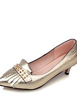Homme-Habillé / Soirée & Evénement-Bleu / Jaune / Violet / Argent / Or-Kitten Heel-Bout Pointu-Chaussures à Talons-Similicuir