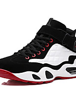 Men's Shoes PU / Fabric Athletic Shoes / Flats Athletic Basketball Flat Heel Others / Hook & Loop / Lace-up Red / White