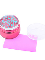Fashion Pink Nail Art Stamping Scraper Set,DIY Nail Beauty Decorations Stamper Template Tools