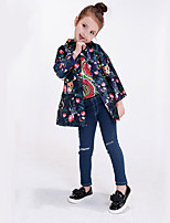 Girl's Casual/Daily Print Jacket & Coat / Trench Coat,Polyester Spring / Fall Blue