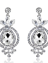 Exqusite Quality Silver AAA Zircon Crystal Drop Earrings for Lady Wedding Party