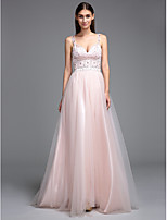 TS Couture® Formal Evening Dress A-line Straps Floor-length Tulle with Beading