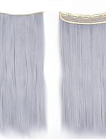 clip en la extensión del pelo en la recta sintético con 5 clips rebanada postizos de colores disponibles 60cm 120grams 1pcs / lots