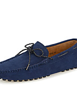Men's Clogs & Mules Spring / Fall Round Toe Synthetic Outdoor / Office & Career / Casual Flat Heel Metallic toe Blue / Yellow / Red / Gray