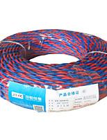 ZR-rvs2 * 1 замедлитель витая пара, ткань провода, пластиковая (100 м / рулон, кабель случайный цвет волос)