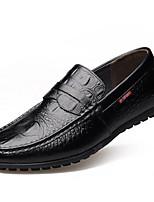 Men's Shoes Cowhide Outdoor Flats Outdoor Walking Flat Heel Slip-on Black / Brown / Yellow