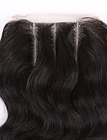 EVAWIGS Brazilian Virgin Hair Natural Colour Hair Pieces Lace Closure 3.5x4 Inch Natural Body Wave 3 Parts
