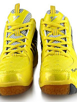 Men's Shoes PU Athletic Sneakers Athletic Indoor Court Flat Heel Lace-up Yellow