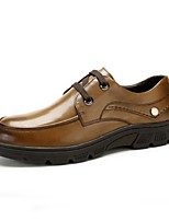 Men's Shoes Outdoor Leather Oxfords Black / Brown