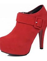 Women's Shoes Fleece Summer Heels Heels Casual Stiletto Heel Others Black / Red / Burgundy