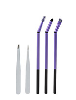 3PCS High Quality Handle Bent Double Eye Makeup Brush + 2PCS Eyebrow Clip Brush a Multi-Purpose