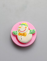 Christmas Snowman Shape Chocolate Silicone Molds,Cake Molds,Soap Molds,Decoration Tools Bakeware