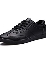 Men's Sneakers Spring / Fall Styles / Round Toe PU Office & Career / Casual / Party & Evening Flat Heel Others Black / White