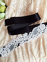 Satin Wedding / Party/ Evening / Dailywear Sash-Sequins / Beading / Appliques / Rhinestone Women's 98 ½in(250cm)Sequins / Beading /