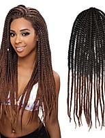 #30 Senegal / Gehäkelt Twist Braids Haarverlängerungen 24 Kanekalon 3 Strand 80g Gramm Haar Borten