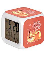 Cartoon Pet Colorful Luminous Alarm Clock-4#