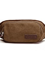 Unisex-Outdoor-Canvas-Waist Bag-Brown / Black