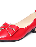 Women's Shoes Patent Leather Chunky Heel Heels / Basic Pump / Pointed Toe Heels Office & Career / Dress /  Red