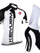 KEIYUEM Moto/Ciclismo Conjuntos de Roupas/Ternos Unissexo Manga CurtaRespirável / Secagem Rápida / Á Prova-de-Pó / Vestível / Compressão