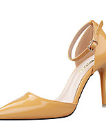 Women's Shoes Leatherette Stiletto Heel Heels Heels Party & Evening Black / Yellow / Purple / Red / Silver / Camel