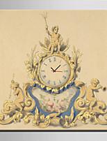 E-HOME® Golden Retro Clock Clock in Canvas 1pcs