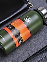 1pc grandes deportivos termo de 1300 ml de capacidad taza de botella de acero inoxidable color al azar