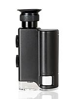 200-240X Pocket Lighted Portable Magnifier with LED UV Light Handheld