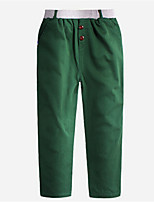 Boy's Cotton Pants,Spring Solid