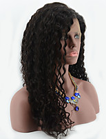 7A Glueless Full Lace Wigs Virgin Brazilian Deep Curly Hair Wig Bleached Knots Full Lace Human Hair Wigs For Black Women